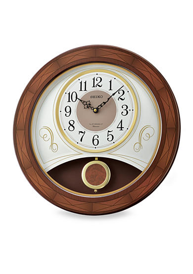 Seiko Wooden Melodies in Motion Wall Clock