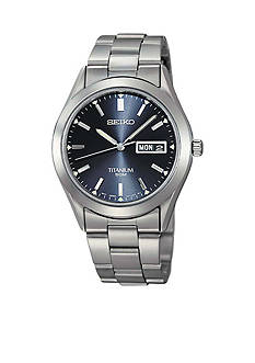 Seiko Men's Titanium Blue Dial Watch