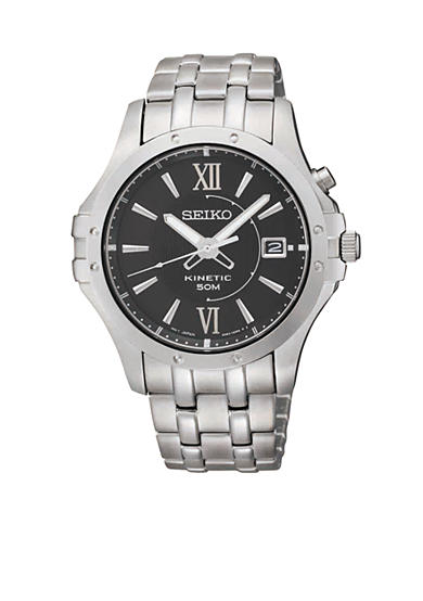 Seiko Men's 50 Meter Stainless Steel Le Grand Sport Kinetic Watch