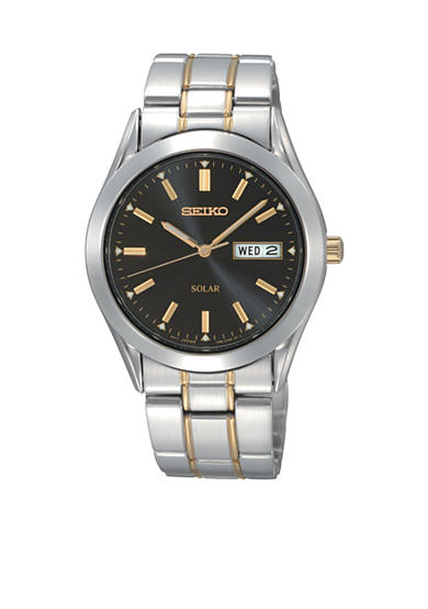Seiko Mens Two Tone Solar Watch