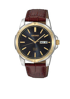 Seiko Mens 100M Two Tone Watch
