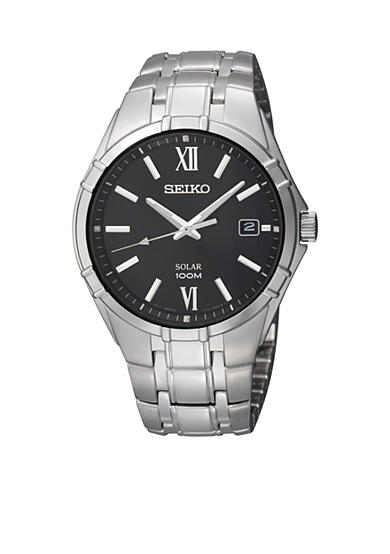 Seiko Men's Stainless Steel Solar Sporty Dress Watch