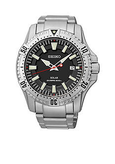 Seiko Men's 200 Meter Stainless Steel Solar Diver Watch