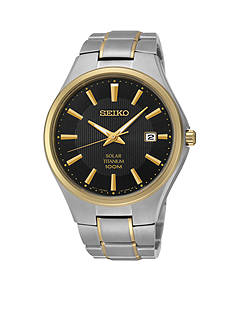 Seiko Two-Tone Titanium Solar Watch