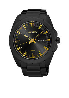 Seiko Men's Recraft Black Stainless Steel Watch