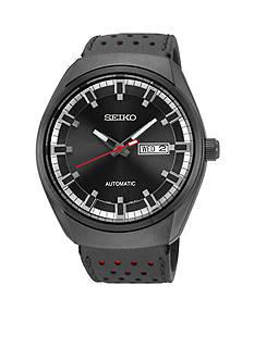 Seiko Men's Black Ion Finish Automatic Calendar Watch