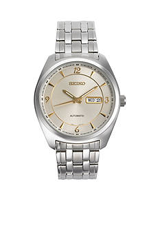 Seiko Men's Recraft Silver-Tone with Champagne Dial Watch