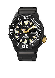 Seiko Men's Stainless Steel Black Dial Automatic Watch