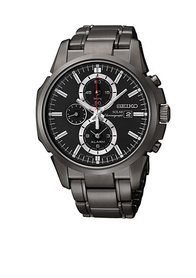 Seiko Men's 100 Meter Solar Alarm Chronograph Watch