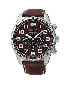 Seiko Men's 100 Meter Stainless Steel Solar Chronograph Watch