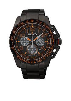 Seiko Men's Black Dial Solar Chronograph Watch