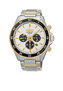 Seiko Men's Chronograph Titanium White Dial Watch