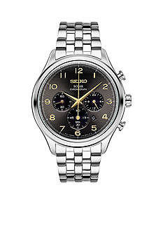 Seiko Men's Stainless Steel Solar Chronograph Watch