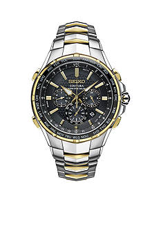 Seiko Men's Two-Tone Coutura Radio Sync Solar Chronograph