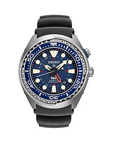 Seiko Men's Prospex Kenetic GMT Diver Blue Silicone Watch