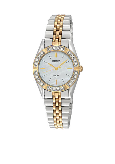 Seiko Ladies 30 Meter Two Tone Solar Dress Watch