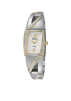 Seiko Women's Stainless Steel Two-Tone Silver Dial Watch
