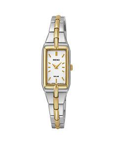 Seiko Two-Tone White Dial Solar Dress Watch