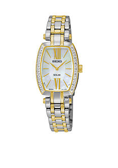 Seiko Women's Tressia Solar Diamond Bezel Watch