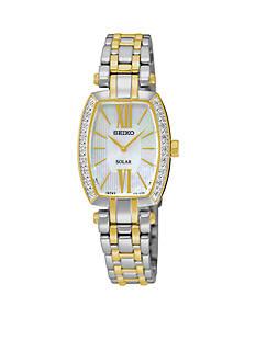 Seiko Women's Tressia Solar Diamond Bezel Watch