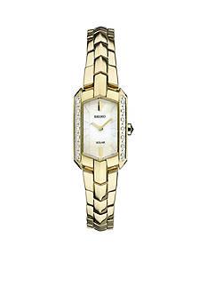 Seiko Women's Tressia Solar Gold-Tone with Diamond Accents Watch