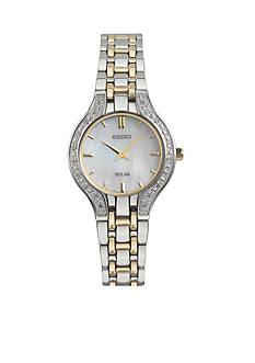 Ladies' Stainless Steel Seiko Diamond Solar Watch