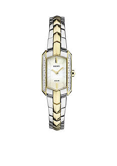 Seiko Women's Tressia Solar Diamond Accents Watch