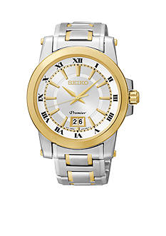 Seiko Men's 100 Meter Two Tone Premier Watch