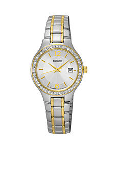 Seiko Women's Two Tone Crystal Bezel Dress Watch
