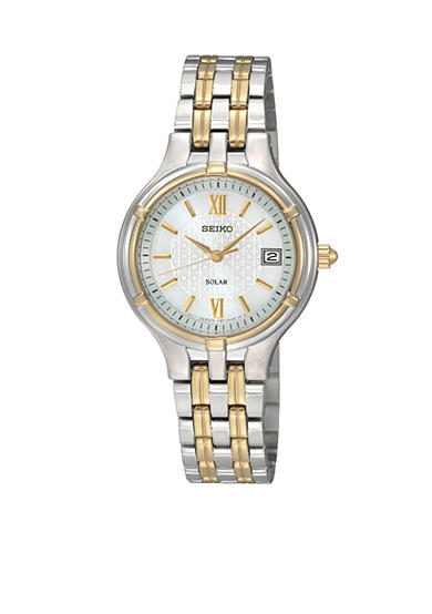 Seiko Ladies 30M Two Tone Solar Watch