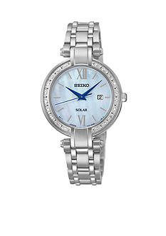 Seiko Women's Diamond Solar Stainless Steel Dress Watch