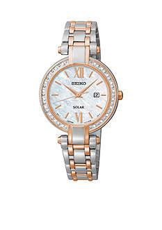Seiko Women's Diamond Solar Two Tone Watch