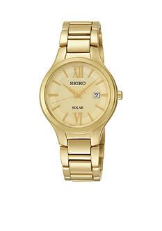 Seiko Gold-Tone Solar Watch