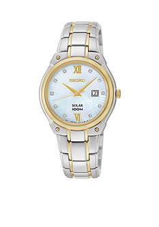 Seiko Two-Tone Diamond Dial Solar Watch