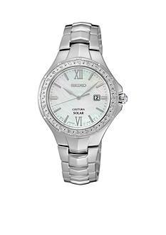Seiko Women's Coutura Solar Diamond Bezel Watch