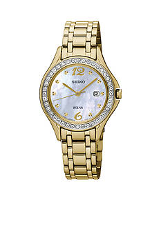 Seiko Women's Solar Gold Watch