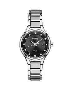 Seiko Women's Diamond Dial Solar Watch