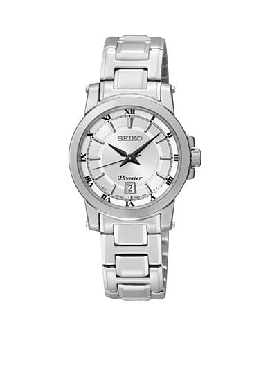 Seiko Women's 100 Meter Stainless Steel Big Date Premier