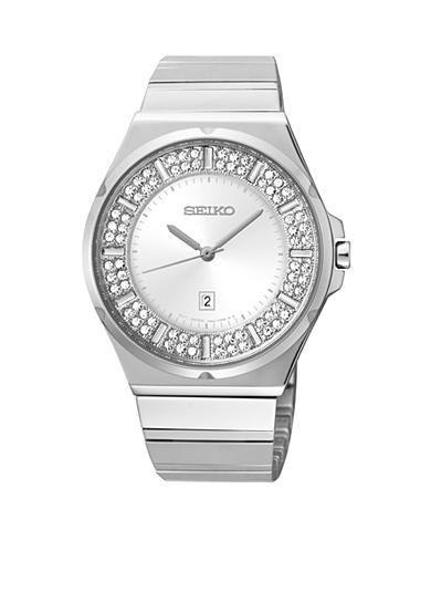 Seiko Women's 100 Meter Stainless Steel Matrix with Crystals Watch