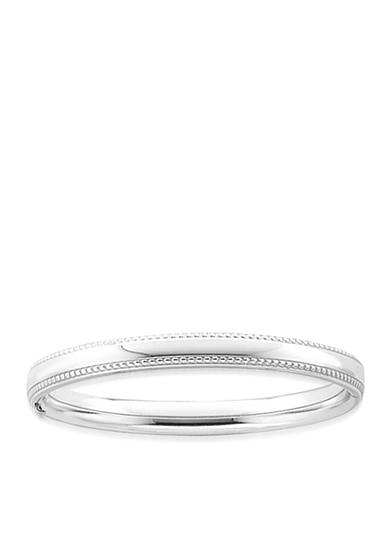 Belk & Co. Children's Sterling Silver Beaded Edge Bangle Bracelet