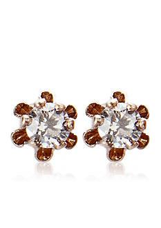Belk & Co. Children's 14k Gold Diamond Stud Earrings