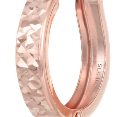 Belk & Co. Jewelry & Watches Sale: Rose Gold Belk & Co. 10k Gold Hoop Earrings