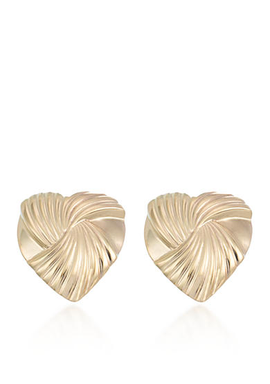 Belk & Co. 10k Yellow Gold Heart Stud Earrings