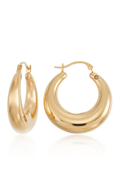 Modern Gold™ 14k Yellow Gold Hoop Earrings