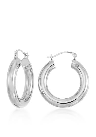 Modern Gold™ 14k White Gold Hoop Earrings
