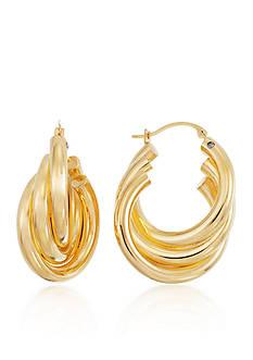Modern Gold™ 14k Yellow Gold Triple Hoop Earrings