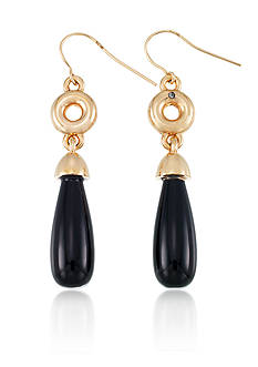 Belk & Co. Onyx Earrings in 14k Yellow Gold