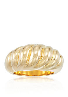 Modern Gold™ Scalloped Band Ring set in 14k Yellow Gold