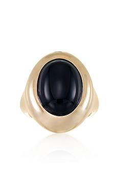 Belk & Co. Onyx Dome Ring in 14k Yellow Gold