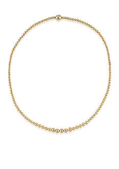 Modern Gold™ 14k Yellow Gold Bead Necklace